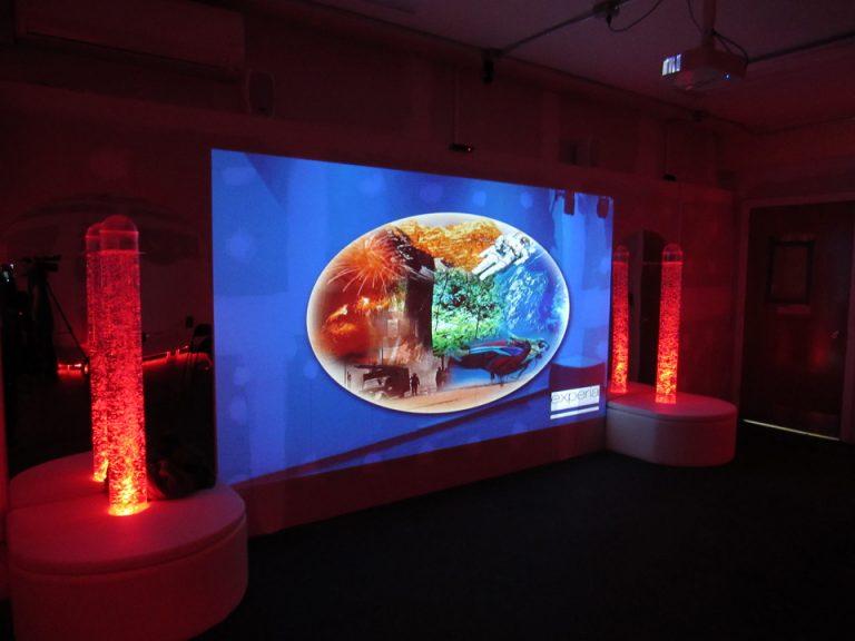 Projector Screen in Sensory Room