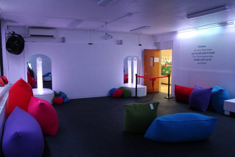 Inside View of Sensory Room with Open Door