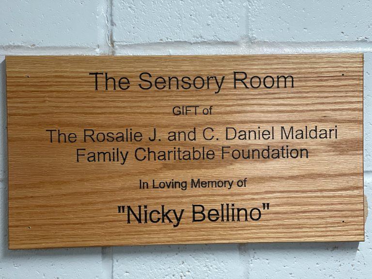 Plaque for The Sensory Room